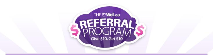 Well.ca Referral program